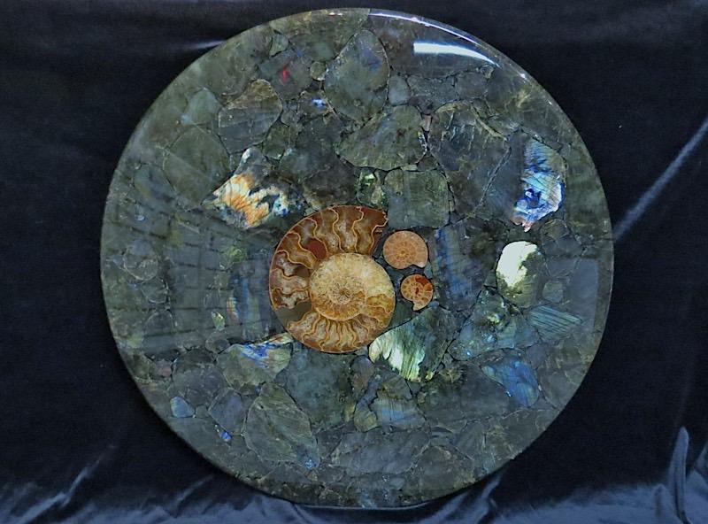 webLabradorite And Ammonite Table Top 18.3 Kilo Madagascar