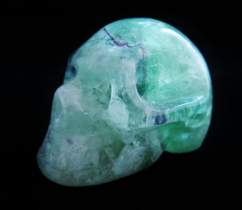 Fluorite Skull (2)