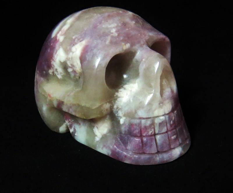 Pink Tourmaline, Lepidolite & Qtz. Skull